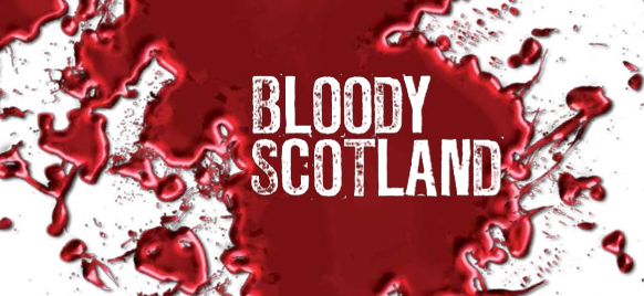 "Logo des Krimi-Festivals ""Bloody Scotland"" in Stirling"